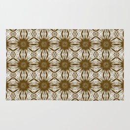 Brown Floral Abstract Rug