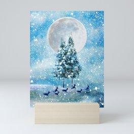 Winter Night 4 Mini Art Print