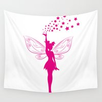 fairy Wall Tapestries featuring fairy by Li-Bro