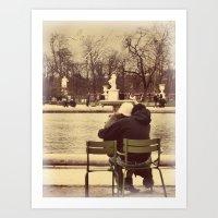 Love of My Life - I Love You More Than Paris Series Art Print