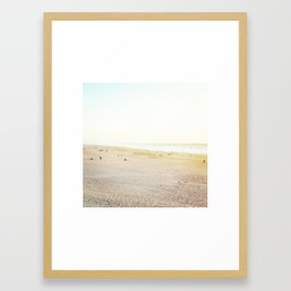 Ocean Beach, White Framed Art Print