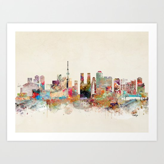 tokyo japan skyline Art Print