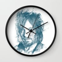 daryl dixon Wall Clocks featuring DARYL DIXON by Chadlonius