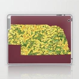 Nebraska in Flowers Laptop & iPad Skin