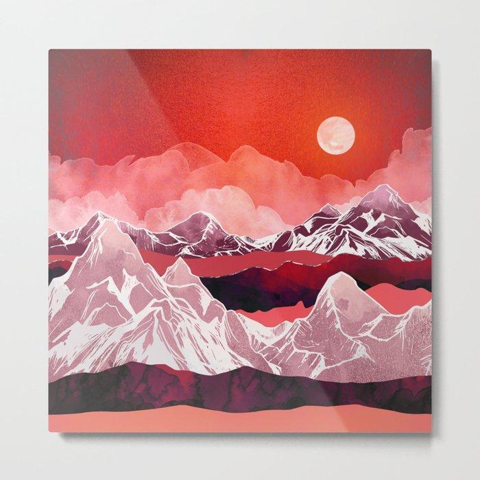 Scarlet Glow Metal Print