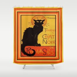 Tournee Du Chat Noir - After Steinlein Shower Curtain
