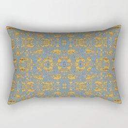 Dark autumn golden leaves Rectangular Pillow