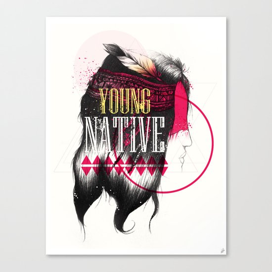 Young Native Canvas Print