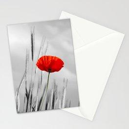 Poppy Red 070 Stationery Cards