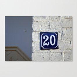 Twenty Canvas Print