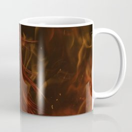 Girl in Flames Coffee Mug
