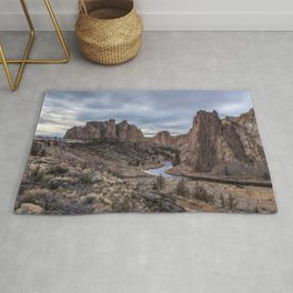 Twilight at Smith Rock State Park Rug