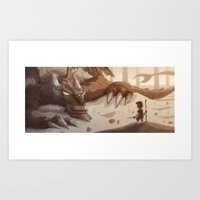 smaug Art Prints featuring Smaug by Otis Frampton