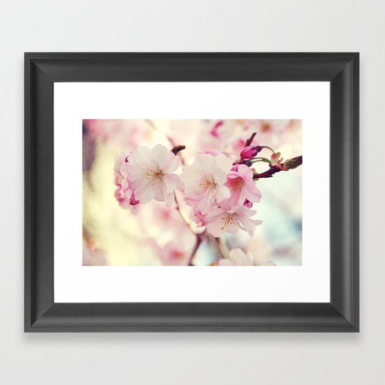 cotton candy flowers Framed Art Print