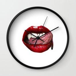 Vampire lips Wall Clock