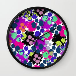 Overlayed blooms Wall Clock