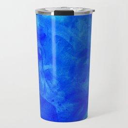 Ice Palace Watercolor Texture Travel Mug