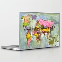 kerouac Laptop & iPad Skins featuring wanderlust by Eliza L