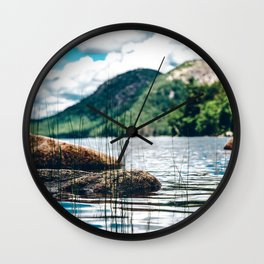 View of North and South Bubble Mountains Wall Clock