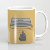 gaming Mugs featuring Retro Gaming - Atari by minemine