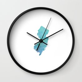 Watercolor New Jersey Wall Clock
