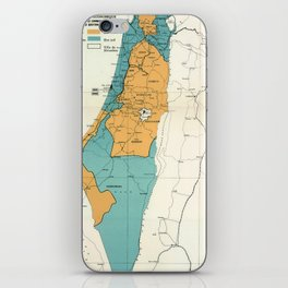Map of Palestine Plan of Partition with Economic Union iPhone Skin