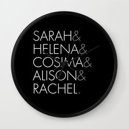 Orphan Black Clone Club Wall Clock