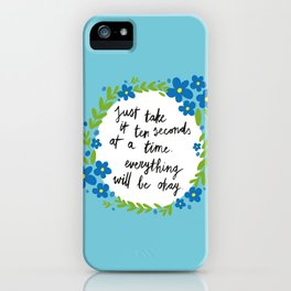 Ten Seconds - Blue iPhone Case