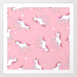 beautiful unicorns Art Print
