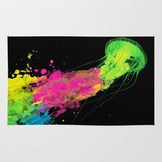 splatter jellyfish Rug
