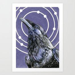 Saros (Royal Purple) Art Print