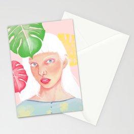 Albino Girl Stationery Cards