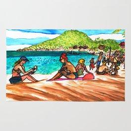beach vibes haad rin beac thailand Rug