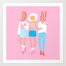 Full Breakfast Art Print