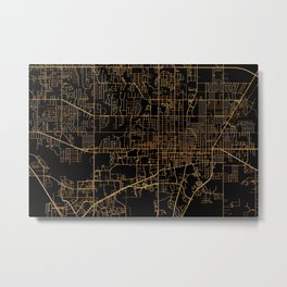 Gainesville map, Florida Metal Print