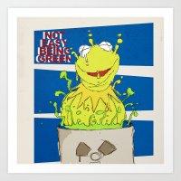 kermit Art Prints featuring kermit by wolfvanhaeren