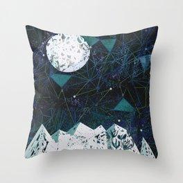 winter geometry Throw Pillow