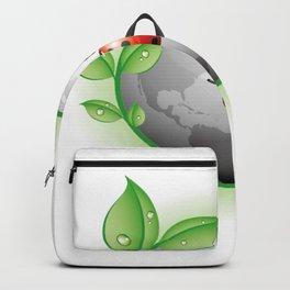 Earth Ladybird Illustration Backpack