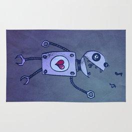 Happy Cartoon Singing Robot Rug