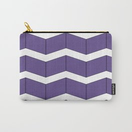 Violet Zig Zag Carry-All Pouch