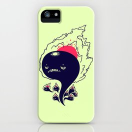Flaming Squiggles iPhone Case