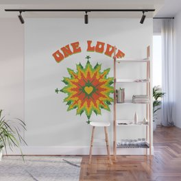 One Love fractal Wall Mural