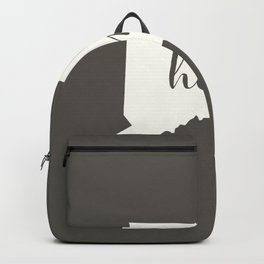 Connecticut is Home - White on Charcoal Backpack
