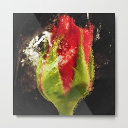 """""""Rose Blk"""" Metal Print"""
