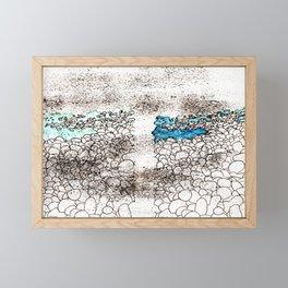 ...on the seashore Framed Mini Art Print