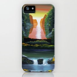 Waterfall in Guilin iPhone Case