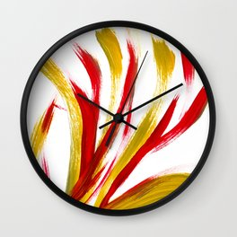 Flame Abstract Painting Wall Clock