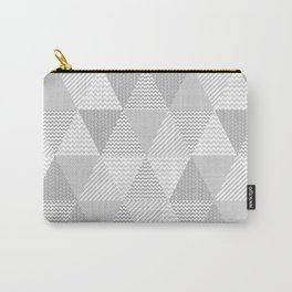 Triangle quilt pattern grey and white minimal modern basic nursery Carry-All Pouch