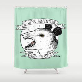 ADVENTURE AND TRASH Shower Curtain