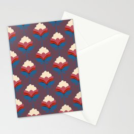 Retro fall florals- n. 2 Stationery Cards